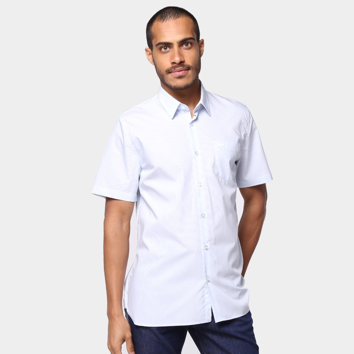 Camisa Lacoste Regular Fit Oxford Lacoste Masculina