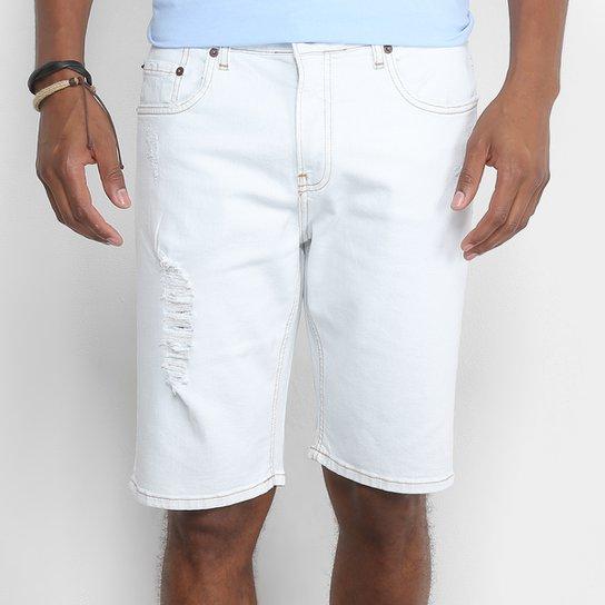 Bermuda Jeans Calvin Klein Delavê Rasgos Masculina - Azul Claro ... 3234159c9d