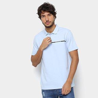 c3797f878 Camisa Polo Calvin Klein Logo Palito Masculina