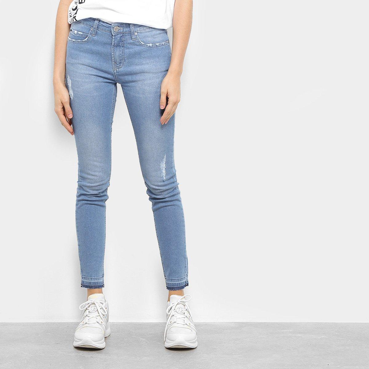 45218c55cc7389 Calça Jeans Skinny Calvin Klein Five Pocket Feminina