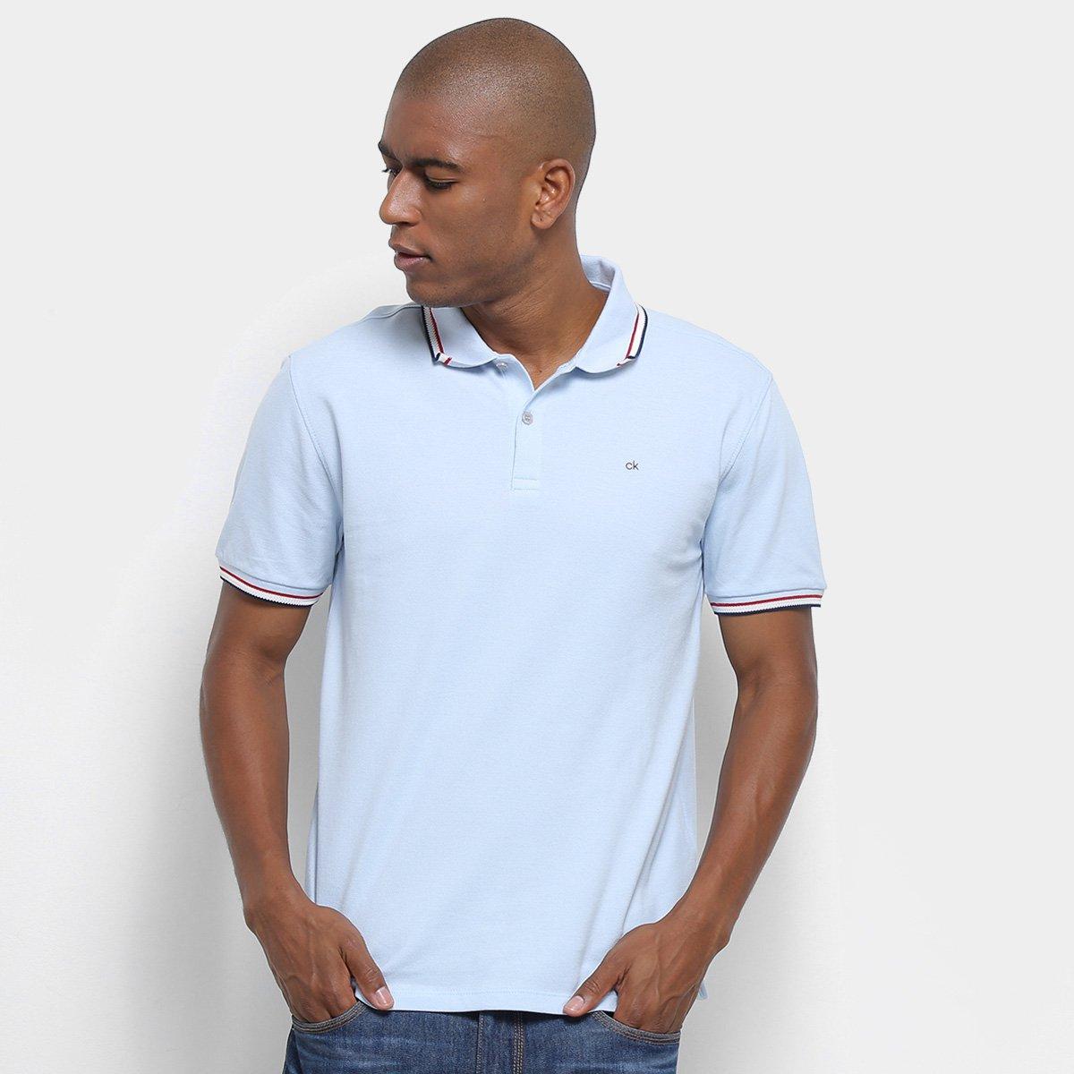 922d443e7 Camisa Polo Calvin Klein Masculino Mc Regular Ponto Espinha CM9OW02PR.