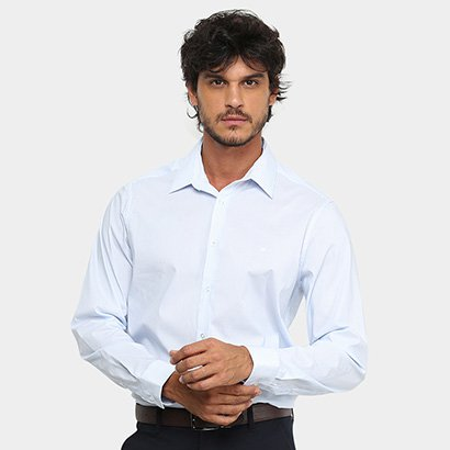 Camisa Social Manga Longa Calvin Klein Slim Fit Flex Collar Masculina