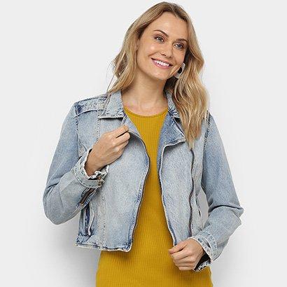 Jaqueta Jeans Cropped Carmim Feminina
