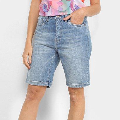 Bermuda Jeans Carmim Estonada Feminina