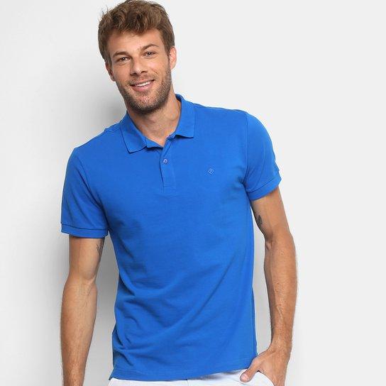 04d63ac3c3 Camisa Polo Forum Piquet Masculina - Azul Royal - Compre Agora ...
