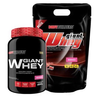 Kit Giant Whey 2 kg Refil - Bodybuilders + Giant Whey 908 g - Bodybuilders