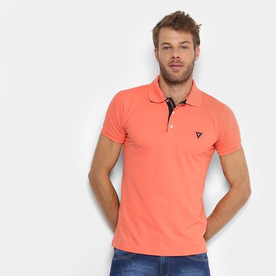 ... f1a68cc7a61 Camisa Polo Opera Rock Piquet Bordado Masculina - Salmão -  Compre .. ... 1d3c67d16b906