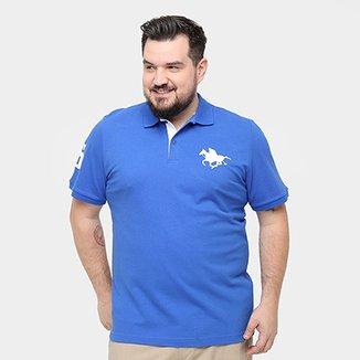 Camisa Polo RG 518 Piquet Plus Size Masculina 7177e32926a