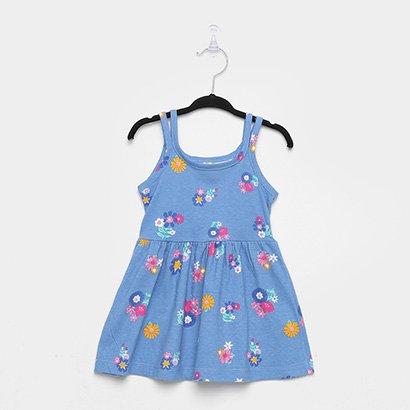 Vestido Infantil Brandili Evasê Floral