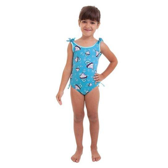 95546ddc9485 Maiô Infantil Com Amarração Best Fit - Azul Claro | Netshoes