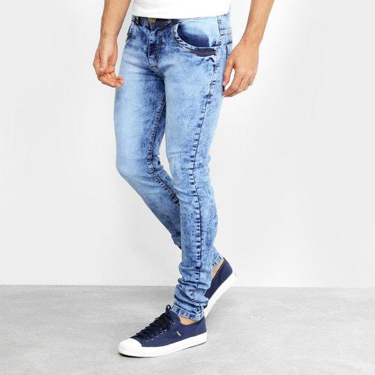 59135cfe15 Calça Jeans Coffee Slim Fit Marmorizada Masculina - Compre Agora ...