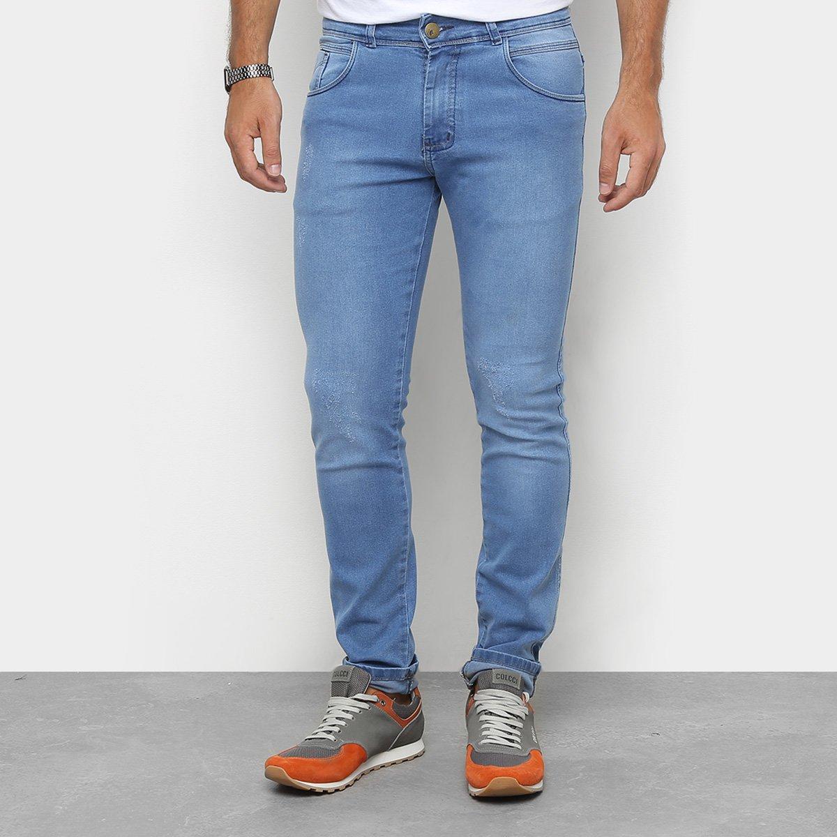 ace6cb492 Calça Jeans Skinny Coffee Rasgo Joelho Masculina