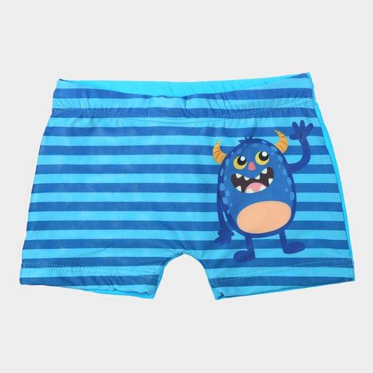 7c803cd65b Sunga Boxer Infantil Tip Top Estampada Masculina - Azul Claro e Azul ...