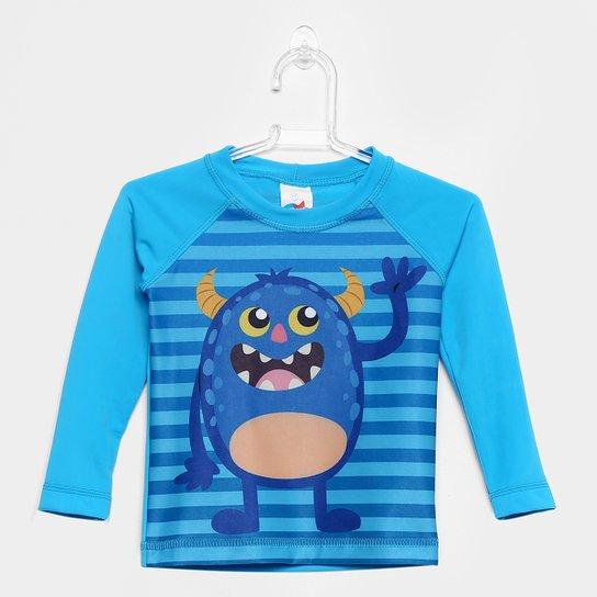 ba059d58f156b Camiseta Infantil Tip Top Praia Manga Longa Masculina - Azul Claro ...