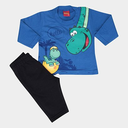 Conjunto Infantil Kyly Dinossauro Masculino