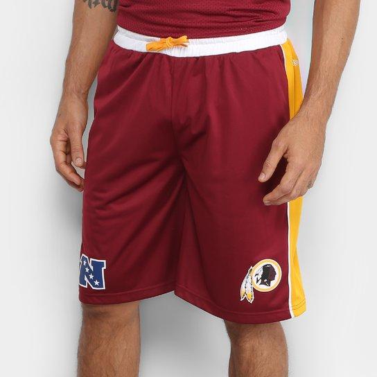 4e44a96d4b Bermuda NFL Washington Redskins New Era Sports Vein Masculina - Vermelho +Amarelo