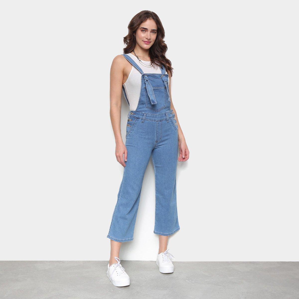 Macacão Jeans Biotipo Pantacourt Feminino