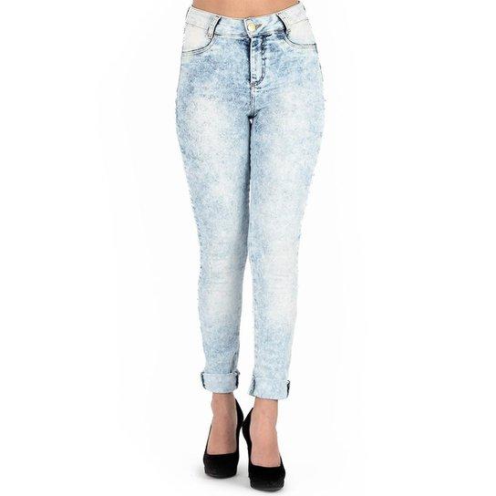 fe903d1a6 Calça Klass Jeans Feminina Marmorizada - Azul Claro