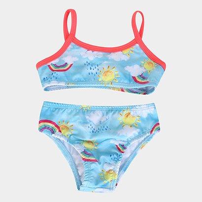 Biquini Infantil Boca Grande Estampado Proteção UV 50