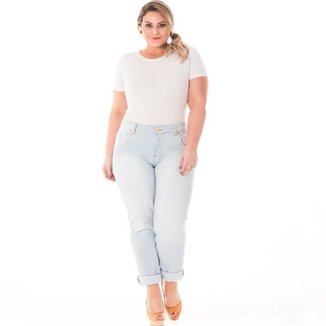 446c49b6c Calça Confidencial Extra Plus Size Cintura Alta Feminina