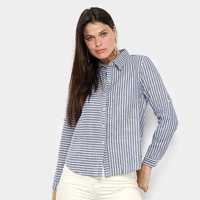 Camisa Manga Longa MS Fashion Listrada Feminina