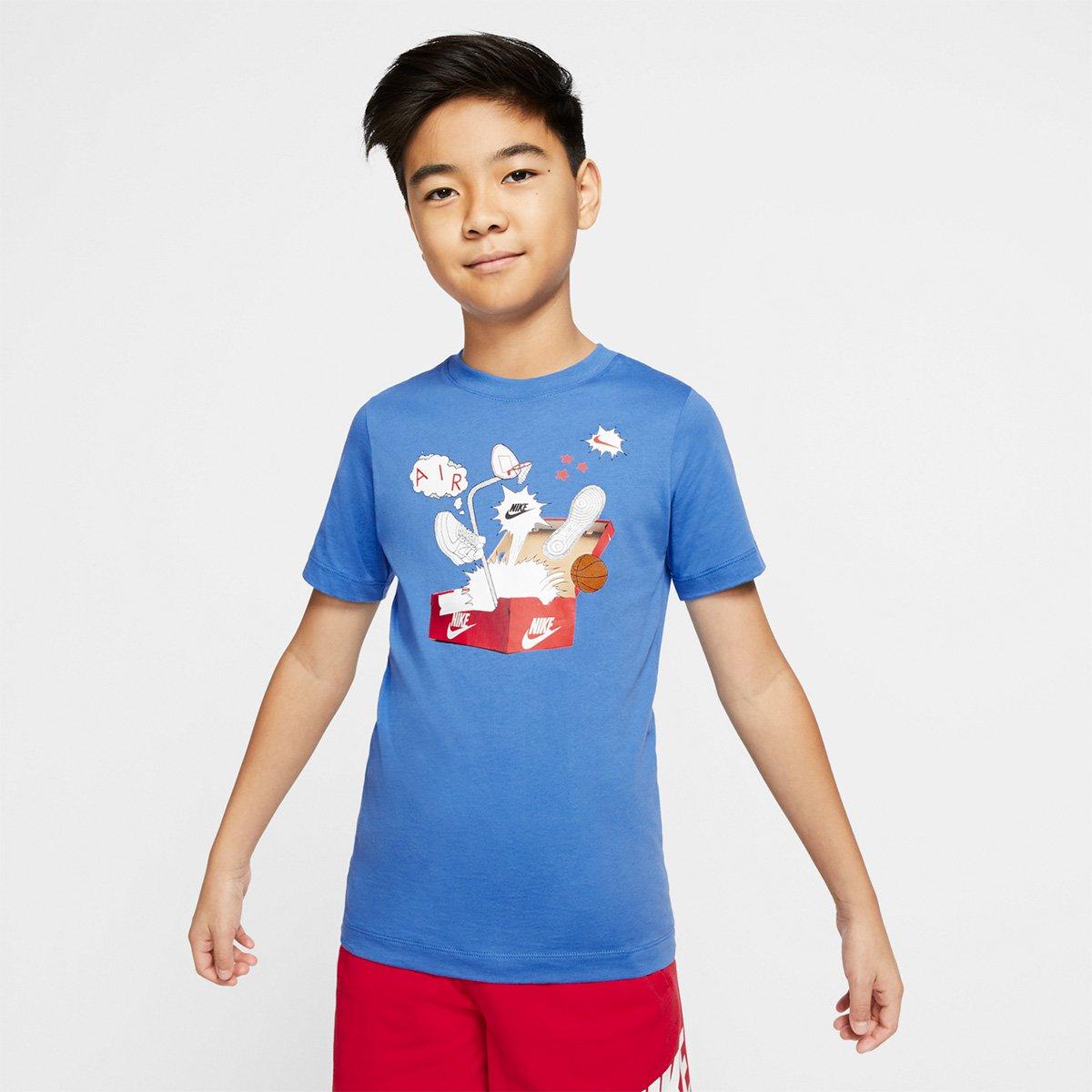 Camiseta Infantil Nike Shoebox Masculina
