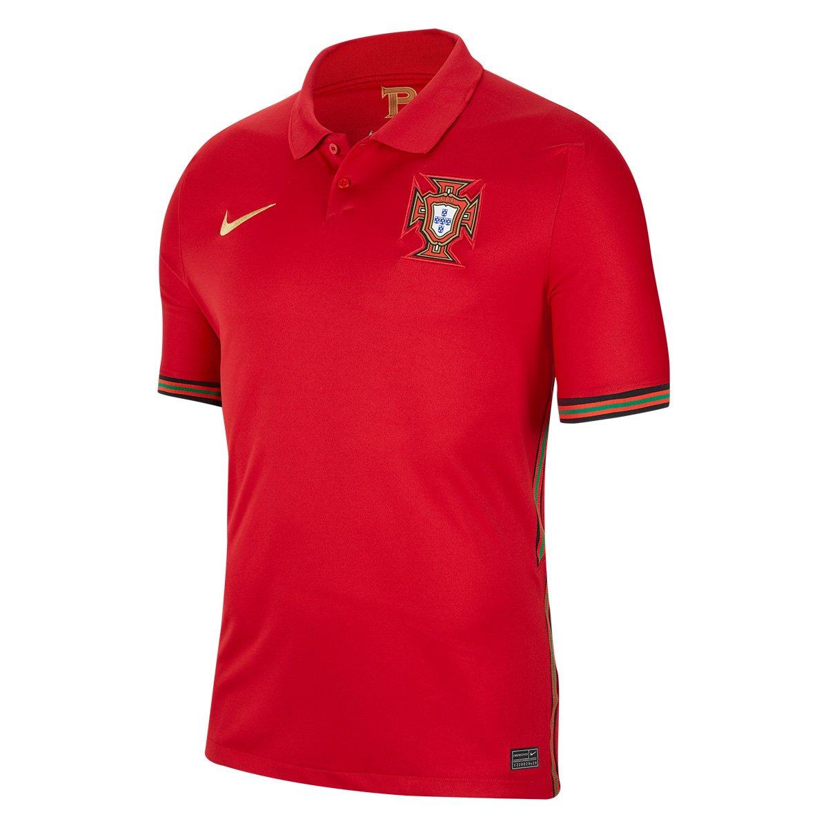 Camisa Seleção Portugal Home 20/21 s/n° Torcedor Nike Masculina