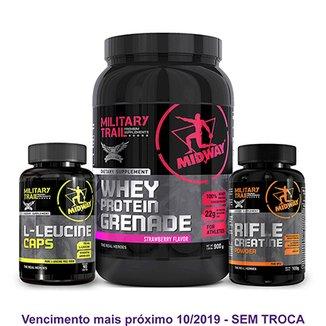 24efc43f6 Kit Auxílio Ganho de Massa com Whey Protein + Bcaa + Creatina