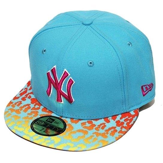 23c524ca8791f Boné New Era Aba Reta Fechado Mlb Ny Yankees Crakle - Azul Claro ...