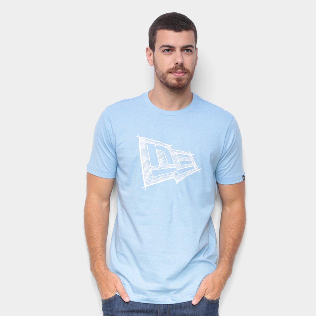 Camiseta New Era Summer Times Ne Sketch Masculina