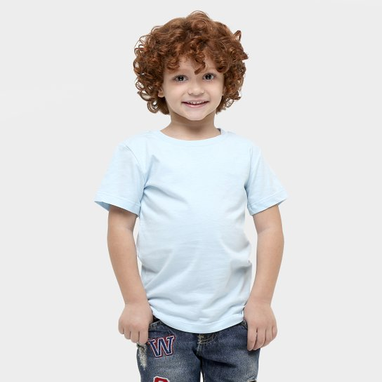 3e5241f3cd Camiseta Blank Basic Infantil - Azul Claro - Compre Agora