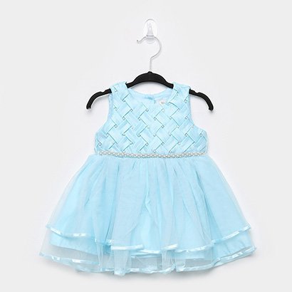 Vestido Infantil Trick Nick Cinto de Pérolas Bebê