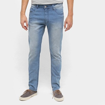 Calça Jeans Skinny Ecxo Estonada Clara Masculina