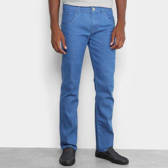 81d3c6d013 Calça Jeans Slim Preston Lavagem Clássica Masculina - Azul Claro ...
