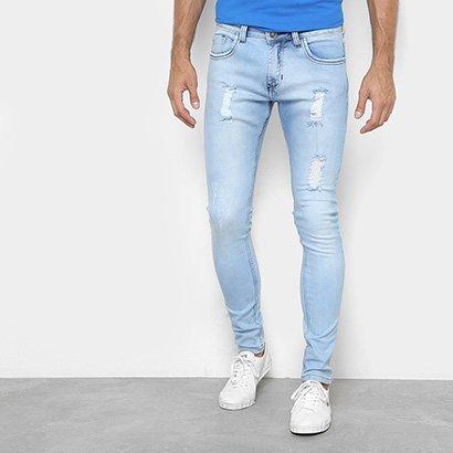 Calça Jeans Preston Delave Destroyed Masculina