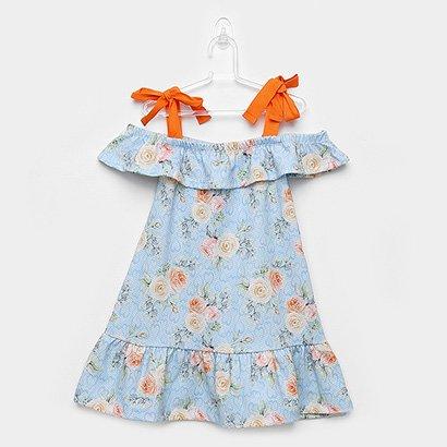 Vestido Infantil Andritex Floral