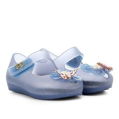 Sapatilha Infantil World Colors Glitter Aplique Borboleta Velcro Feminina