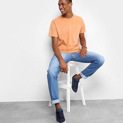 Calça Jeans Slim Drezzup Estonada Puídos Masculina