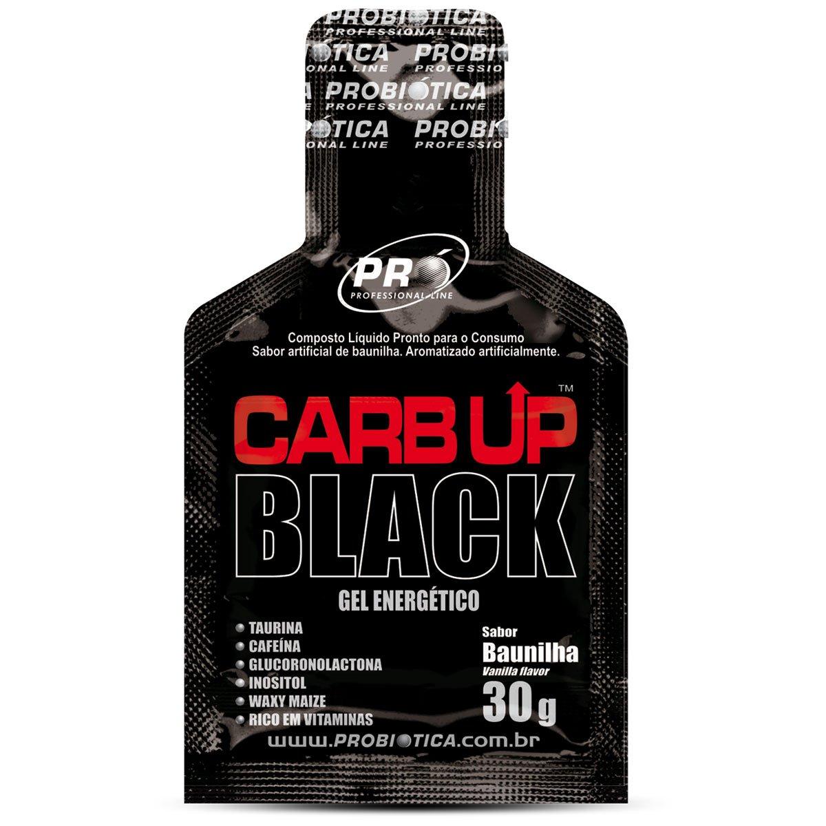 Carb-Up Gel Black c/ 10 Sachês - Probiótica