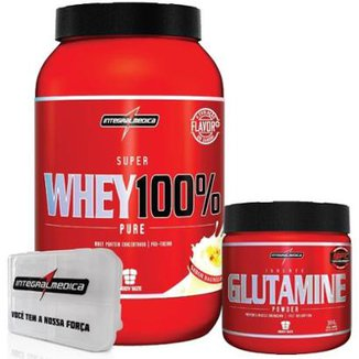 a19f3f38e Kit - 100% Whey + Glutamina + Porta Caps - Integralmédica