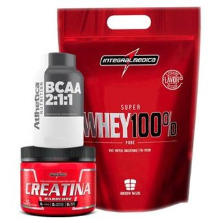 f9045bcac Kit KFit Nutrition Whey + BCAA + Creatina Integral Medica