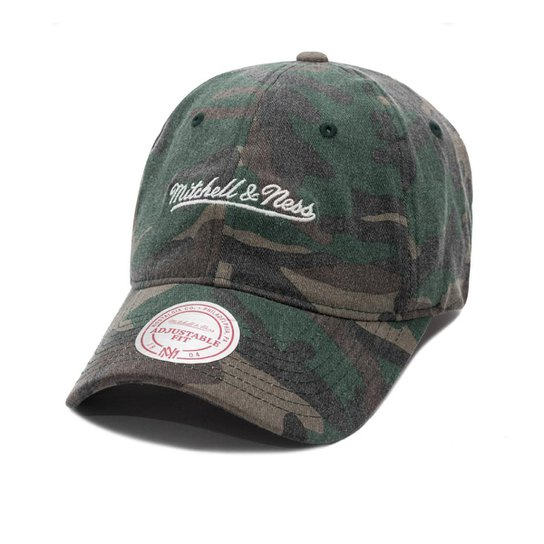 Boné Mitchell And Ness Strapback Dad Hat - Camuflado Preto c976f6231d3