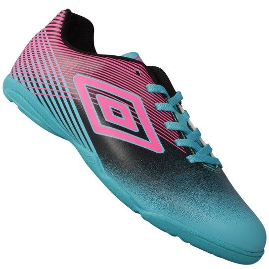 Tênis Umbro Indoor Slice III Futsal - Azul Piscina+Rosa 0846e53e1d613