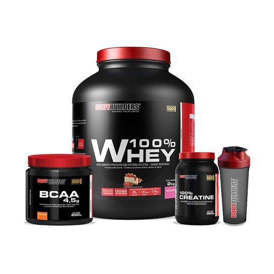 8ed218b78 Kit 100% Whey Protein 2 Kg + BCAA 4