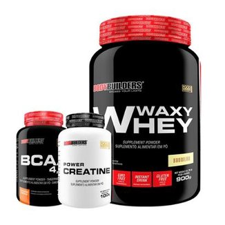 Waxy Whey 900G + Bcaa 120 Tabs + Creatina 100G Bodybuiders