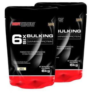 Kit 2x 6 Six Bulking 6kg Baunilha Bodybuilders