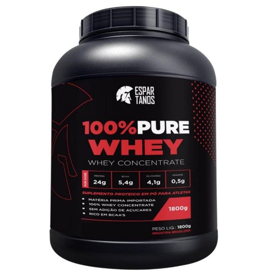 11fbb6c49 100% Pure Whey Protein Concentrate 1 8KG Espartanos - Baunilha ...