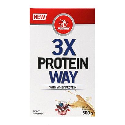 Way Protein 3x: Blend de proteínas concentradas soja, leite e albumina - Midway...