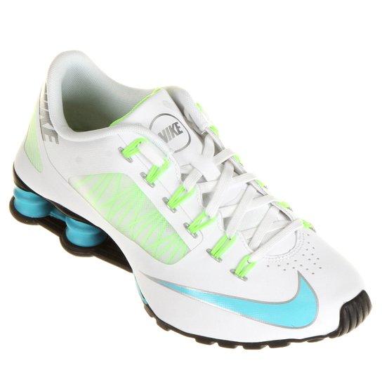Tênis Nike Shox Superfly R4 - Branco+Azul Claro 2ed78a00cd1ae
