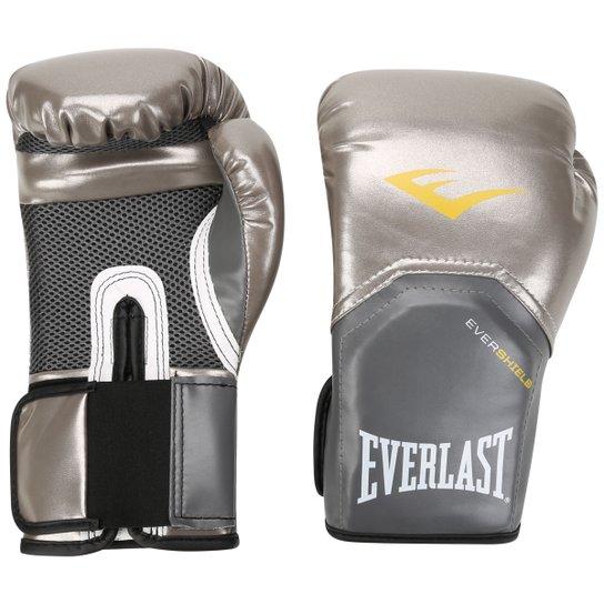 efc146b2c7298 Luva Everlast Pro Style 10 Oz - Prata - Compre Agora